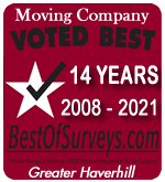Voted Greater Haverhill's Best Moving Company - Ferrick Bros. Moving Company - Movers In Haverhill, MA - Andover, Groveland, Methuen, Newburyport, North Andover, Salem NH